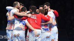 Los Hispanos celebran el pase a cuartos de final del Mundial Balonmano 2017