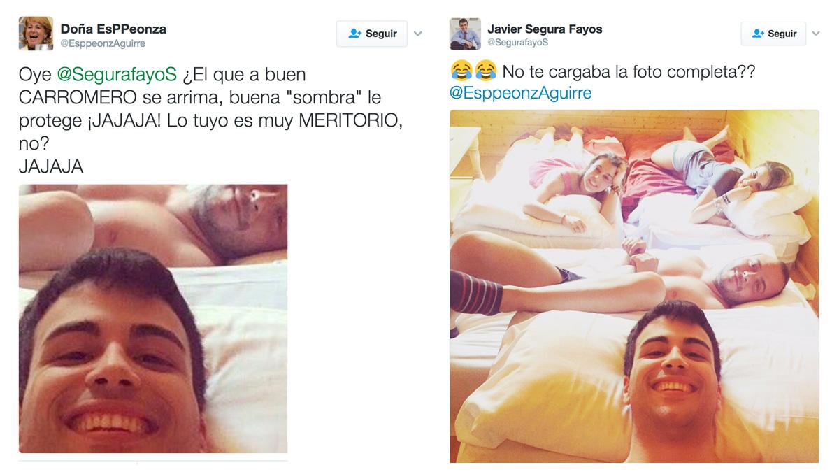 A la izquierda, el montaje difundido por el troll de Podemos, y a la derecha la foto original.