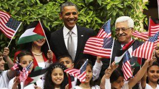 Barack Obama y Mahmud Abbas, el presidente de la Autoridad Nacional Palestina (Foto: Getty)