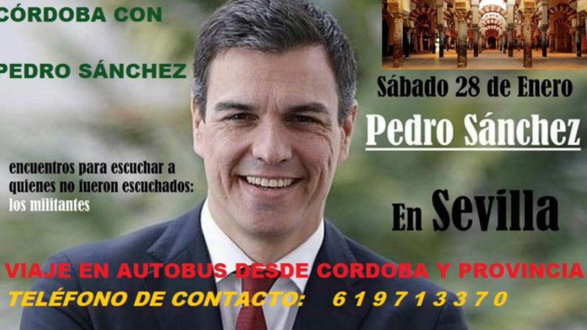 Cartel en apoyo a Pedro Sánchez. (Foto: OKD)