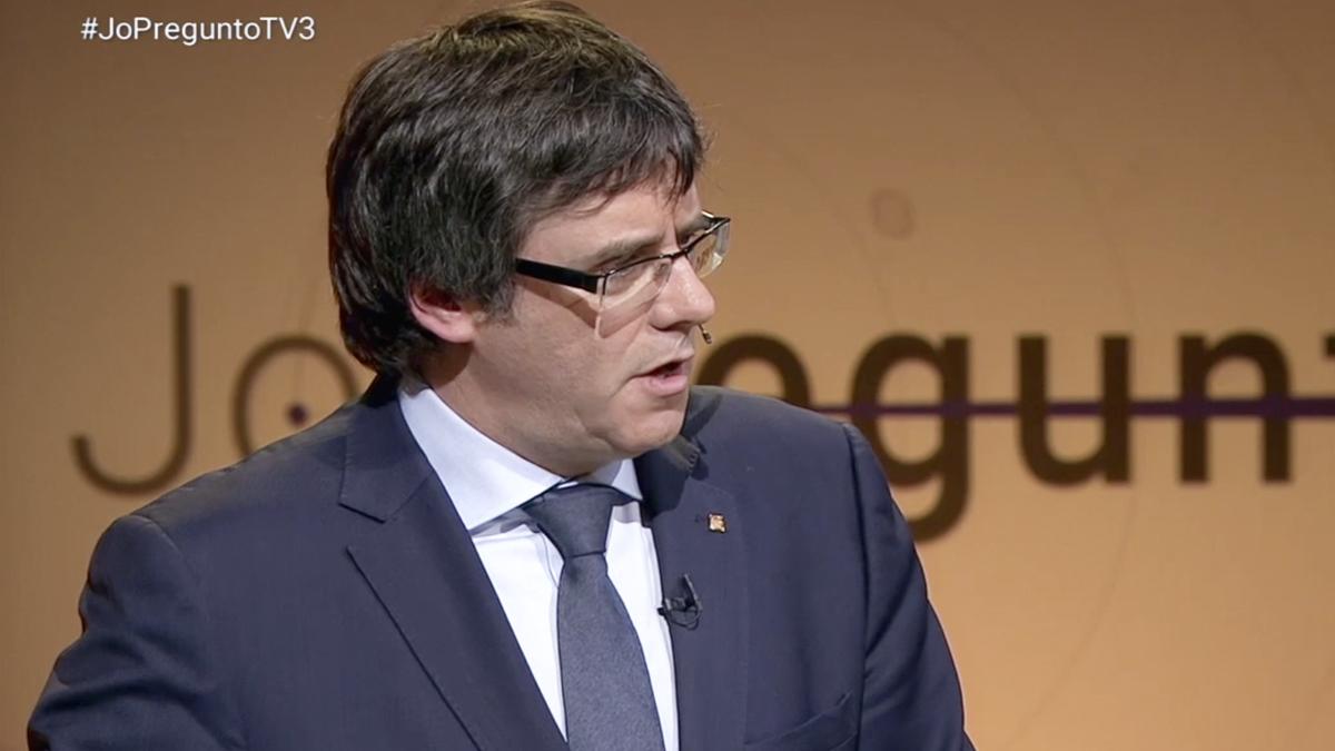 Carles Puigdemont en 'Jo pregunto'.