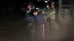 """Una imagen de la detención de '""""l Chapo' Guzmán el pasado enero de 2016, otro duro golpe contra el cártel de narcotráfico de Sinaloa en México. Foto: AFP"""
