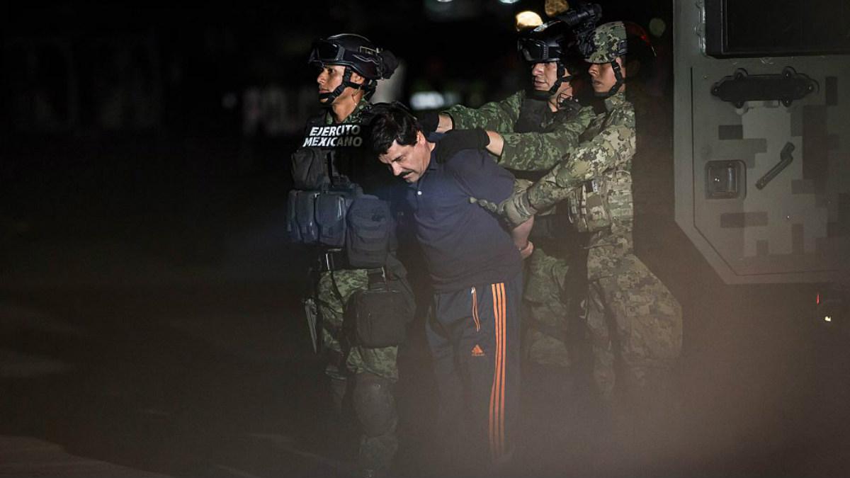 Una imagen de la detención de '«l Chapo' Guzmán el pasado enero de 2016, otro duro golpe contra el cártel de narcotráfico de Sinaloa en México. Foto: AFP