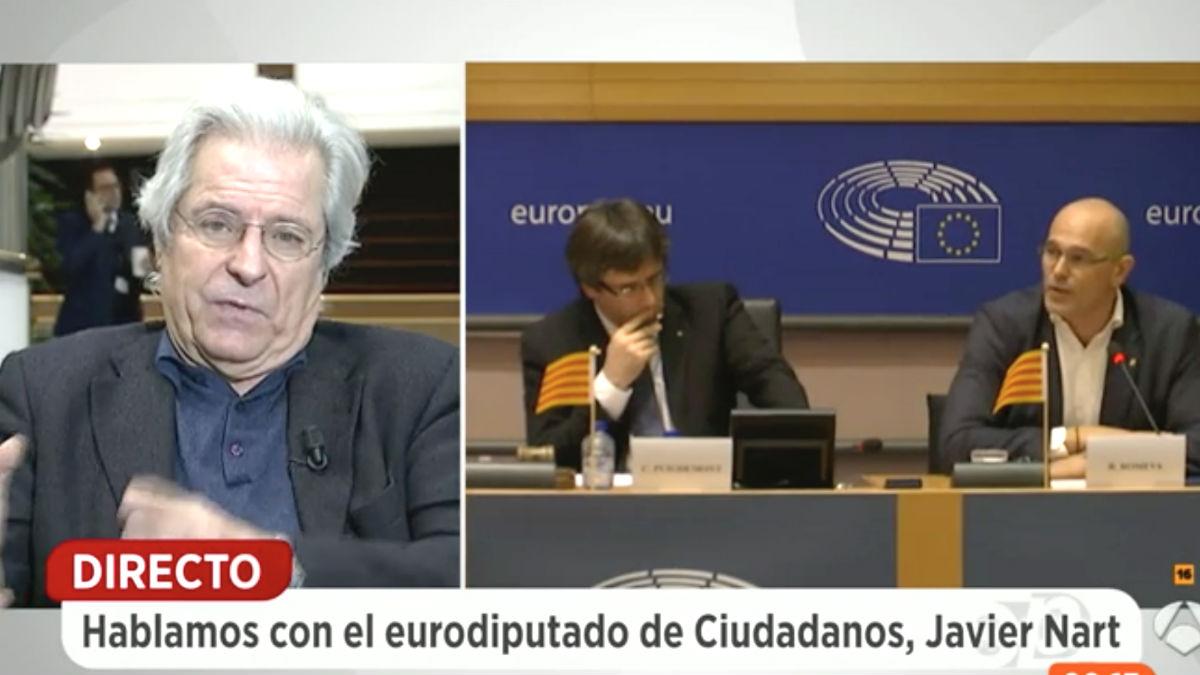 El eurodiputado de Ciudadanos, Javier Nart, en 'Espejo Público' (Foto: Antena 3)