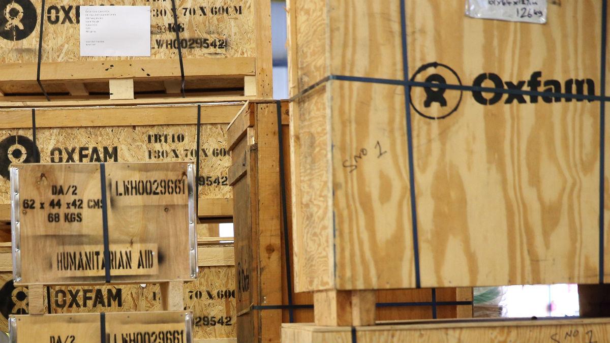 Material de ayuda humanitaria de Oxfam (Foto: GETTY).
