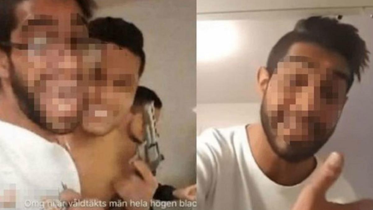 Captura del video en directo donde los agresores mostraban sus rostros y el arma que portaba uno de ellos. Foto: Expressen