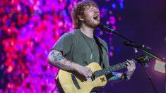 Ed Sheeran durante una actuación en Brisbane (Getty)