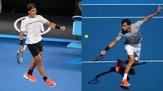 Nadal vs Dimitrov en semifinales del Open de Australia 2017. (Getty)