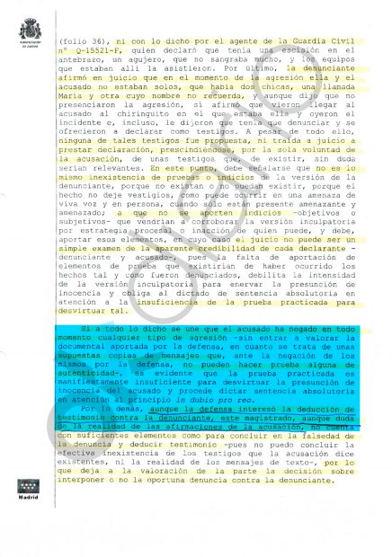 Sentencia del Juzgado de lo Penal nº 3 de Getafe (Madrid).