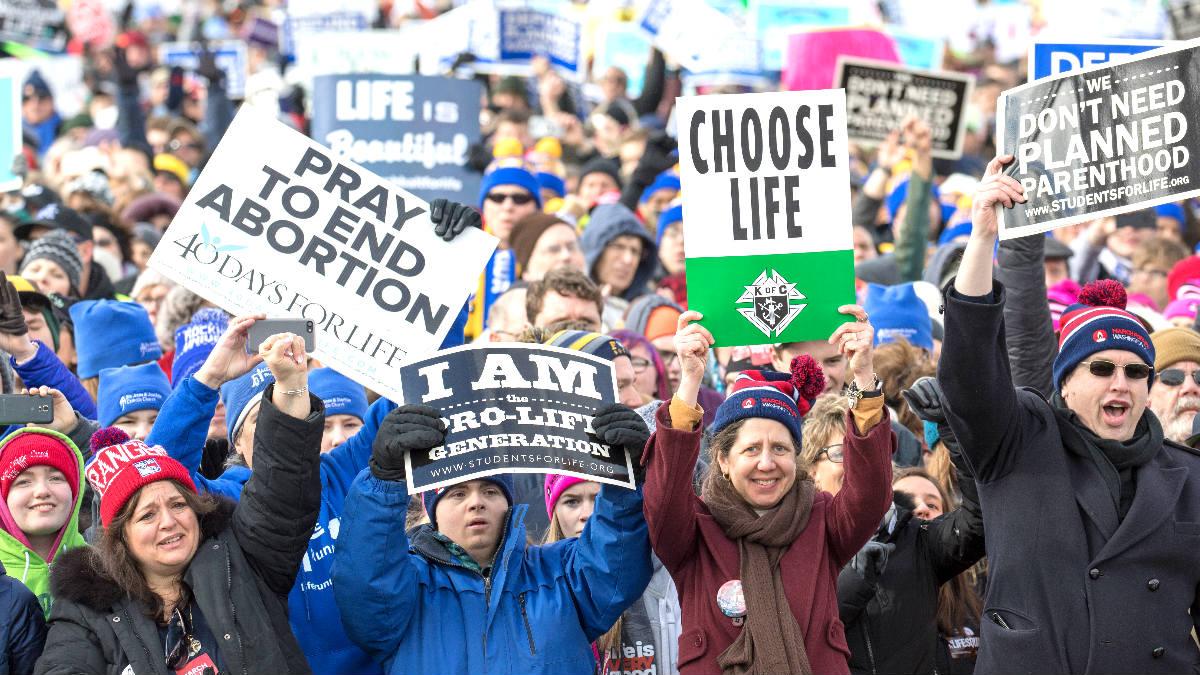 Manifestación antiabortista de este viernes en Washington (Foto: AFP).