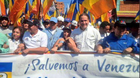 El opositor Luis Florido durante una manifestación.