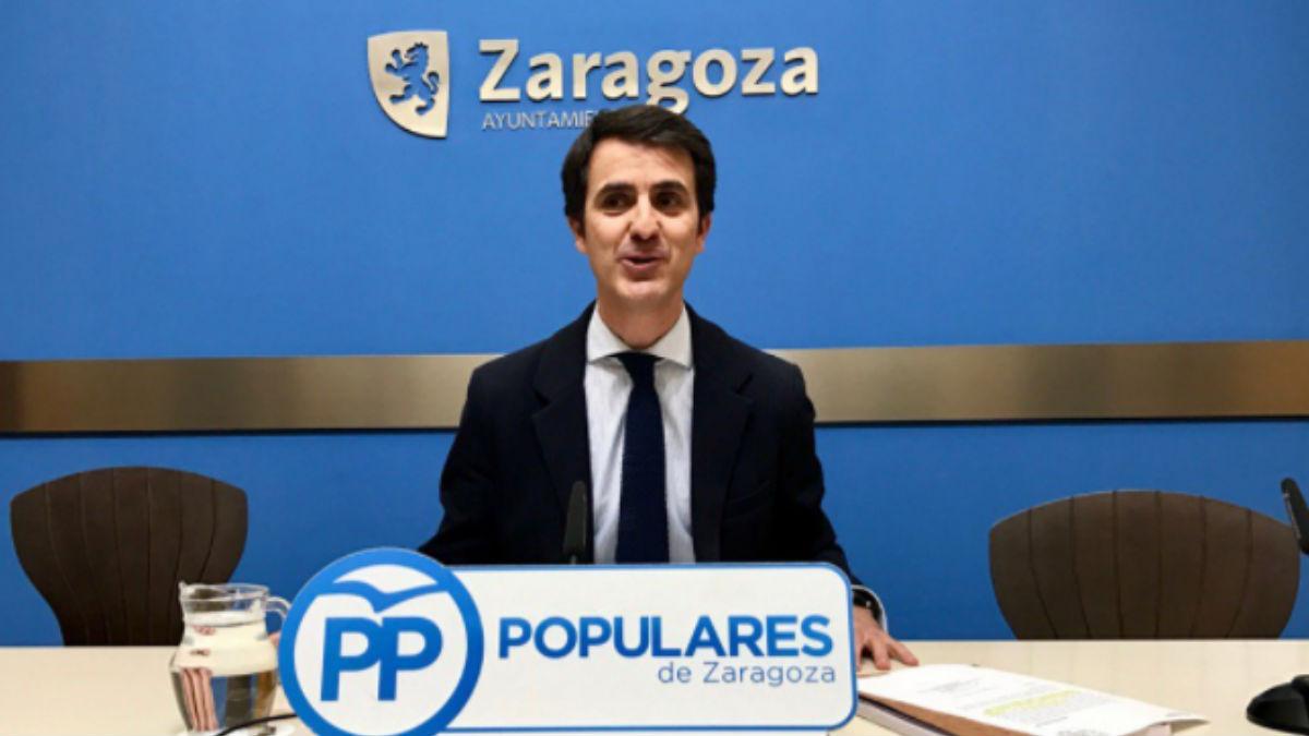 El concejal del Ayuntamiento de Zaragoza, Pedro Navarro. (Foto: PP)