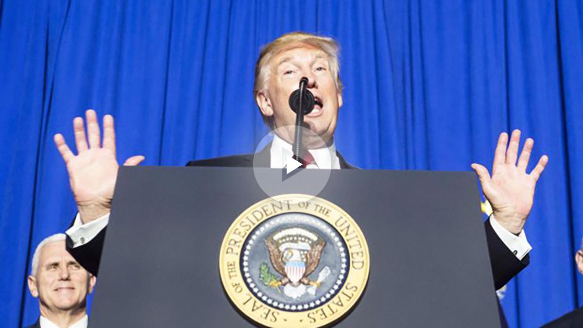 Donald Trump, presidente de Estados Unidos (Foto: AFP)