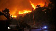 Uno de los incendios forestales de Chile (Foto: AFP).