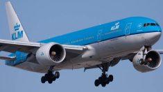 Un Boeing 777 de la compañía holandesa KLM.