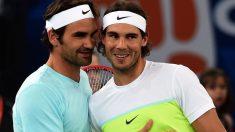 Rafa Nadal y Roger Federer. (AFP)