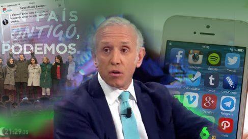 Eduardo Inda en el plató de La Sexta Noche.