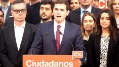 Albert Rivera en la presentación de la nueva Ejecutiva de Ciudadanos (Foto: Efe).