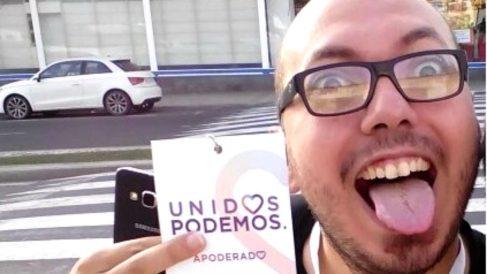El candidato de Podemos al Congreso de los Diputados por Las Palmas, Diego Flores.