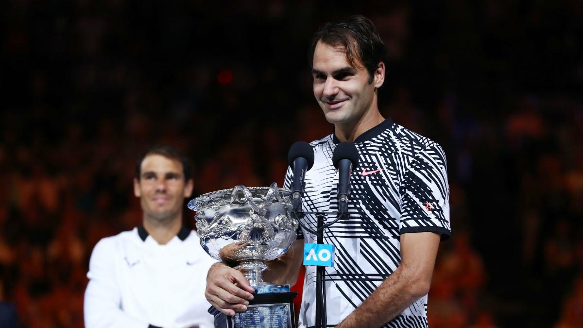 Federer elogió a Nadal después de proclamarse campeón en Australia. (Getty)