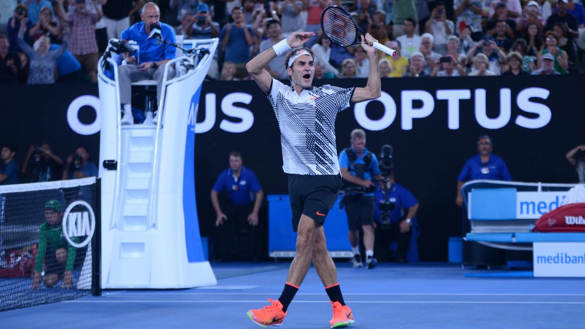 Federer celebra la victoria. (Getty)