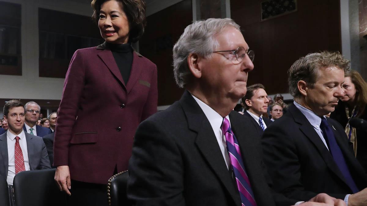 Mitch McConnell, portavoz de los Republicanos en el Senado (Foto: AFP)