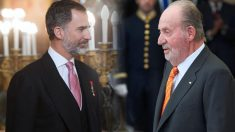Felipe VI y su padre el rey emérito Juan Carlos.