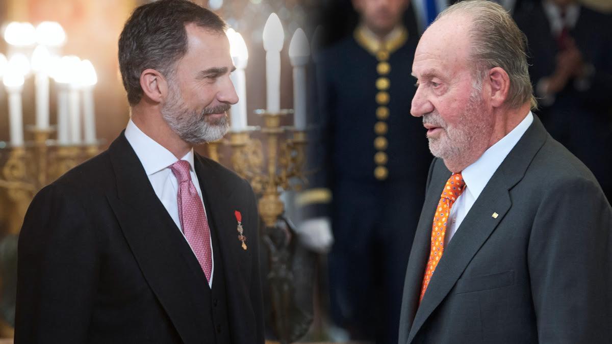 Felipe VI y su padre, el Rey emérito Juan Carlos.