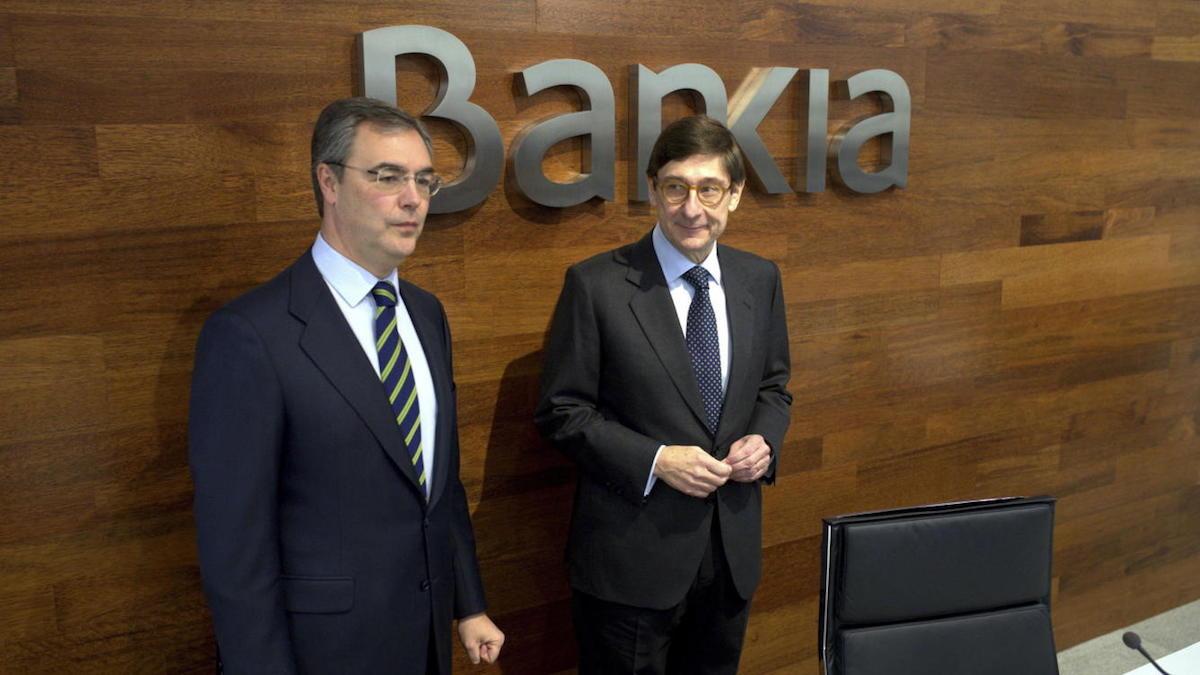 El CEO de Bankia, José Sevilla (izq) y el presidente, José Ignacio Goirigolzarri . (Fuente: EFE)