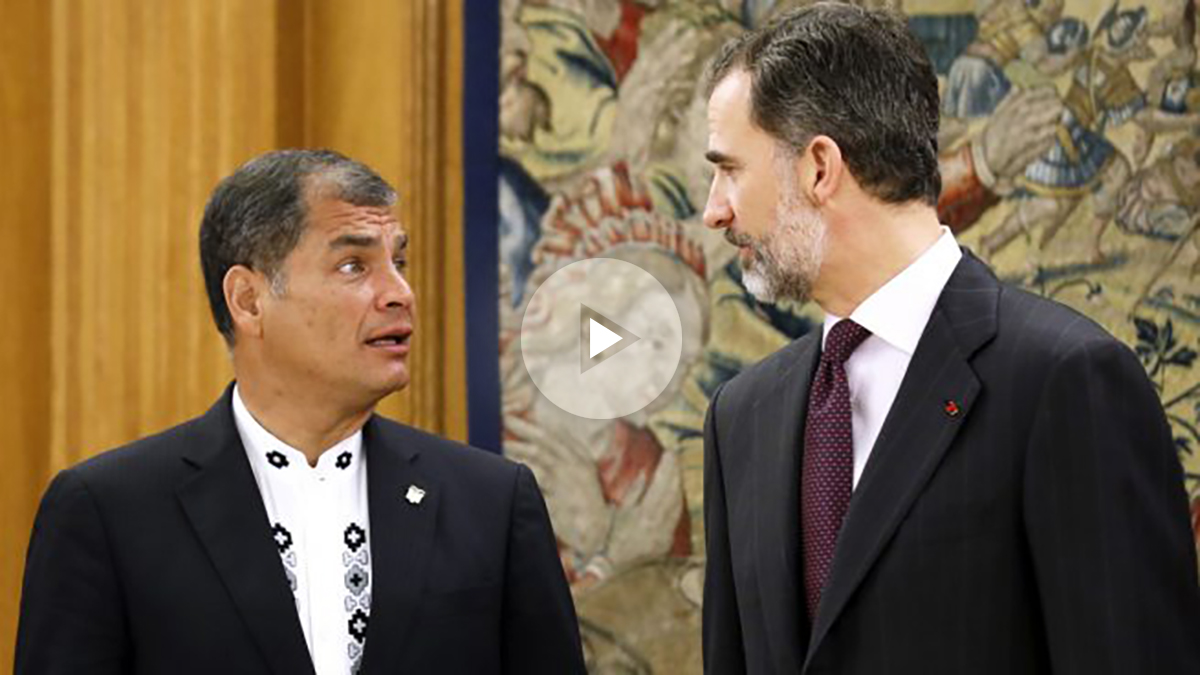 Rafael Correa y Felipe VI. (Foto: EFE)