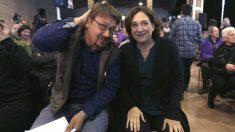 La alcaldesa de Barcelona, Ada Colau, y el líder de Catalunya en Comú, Xavier Domenech (Foto: Efe)