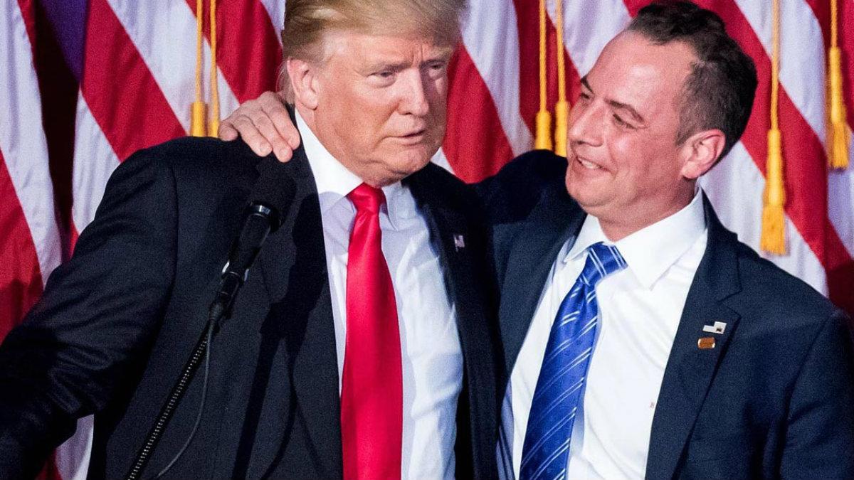 Donald Trump y su jefe de gabinete, Rence Priebus.