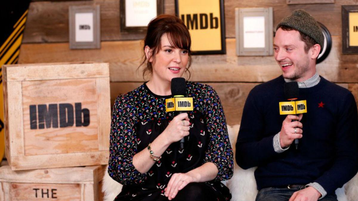 Melanie Lynskey y Elijah Wood, durante la presentación de la película en el festival de Sundance. Foto: AFP
