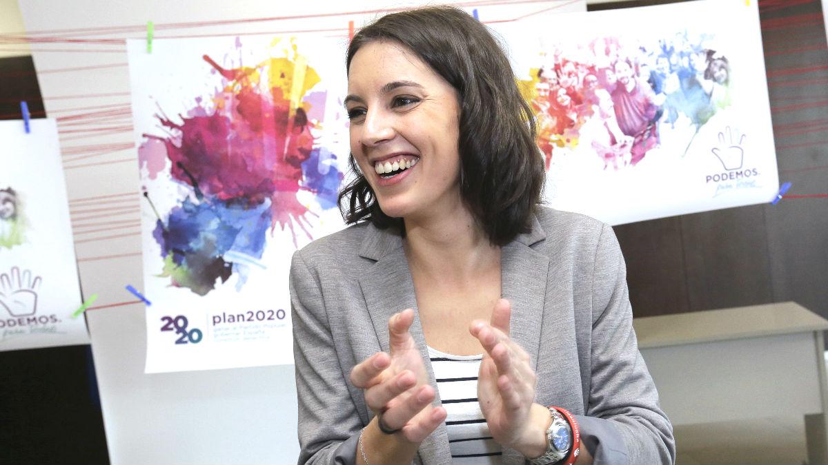 La portavoz de Podemos en el Congreso, Irene Montero (Foto: Efe)