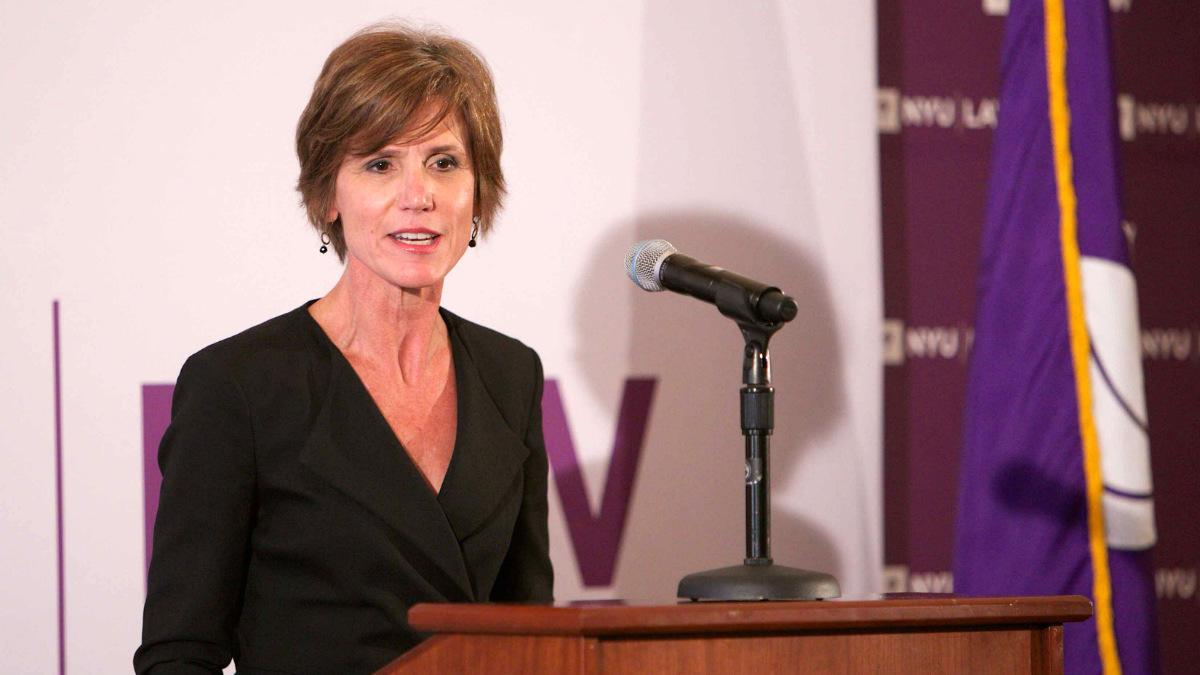 Sally Yates, fiscal general interina de EEUU.