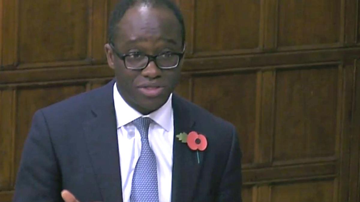 Sam Gyimah, ministro de Justicia de Reino Unido.