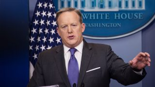 Sean Spicer, portavoz de la Casa Blanca. (Foto: AFP)