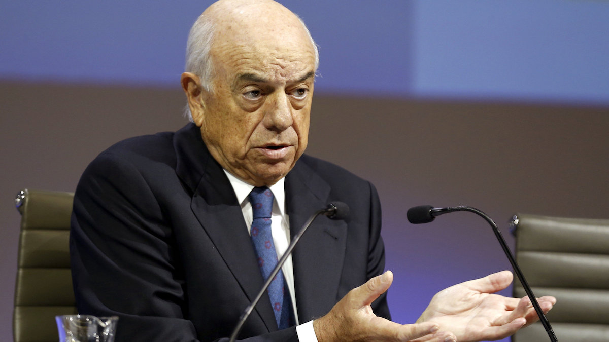 El expresidente de BBVA, Francisco González. (Foto: EFE)