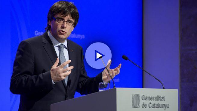 Puigdemont insiste en el desafío al Gobierno y dice que «la democracia no se puede precintar»