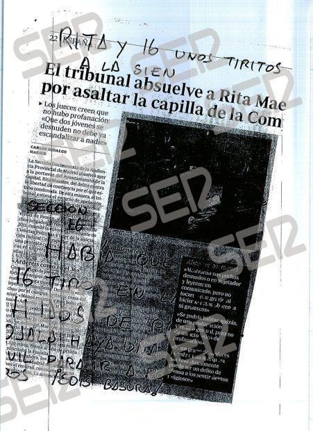 Rita Maestre y los jueces que la absolvieron son amenazados de muerte con «unos tiritos en la sien»