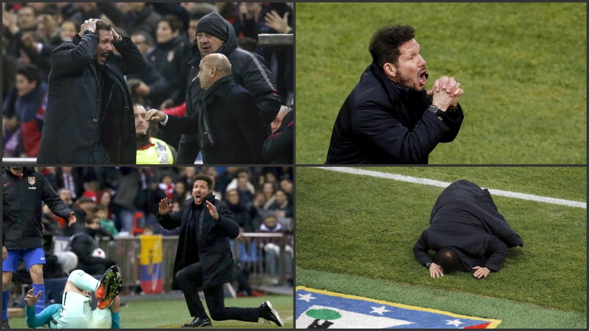 Simeone se vuelve loco en la banda.