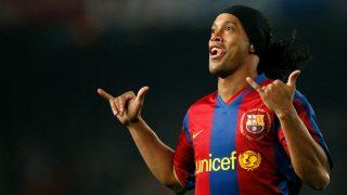 Ronaldinho, en su última etapa como jugador del Barcelona.