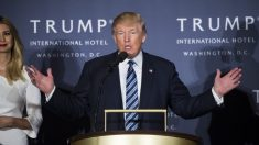 Donald Trump en la apertura de su hotel en Washington (Foto: Getty)