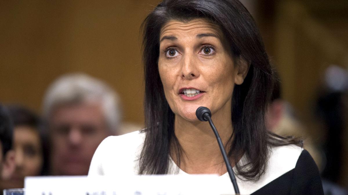 La embajadora de EEUU ante la ONU Nikki Haley (Foto: AFP).