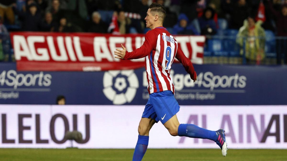 Fernando Torres celebra su segundo tanto ante el Leganés