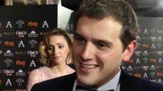 Albert Rivera, atiende a la prensa a su llegada a la gala de los Goya.