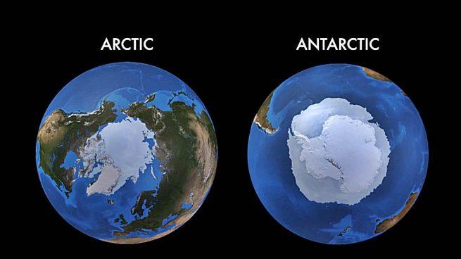 Ártico Antártico diferencias b