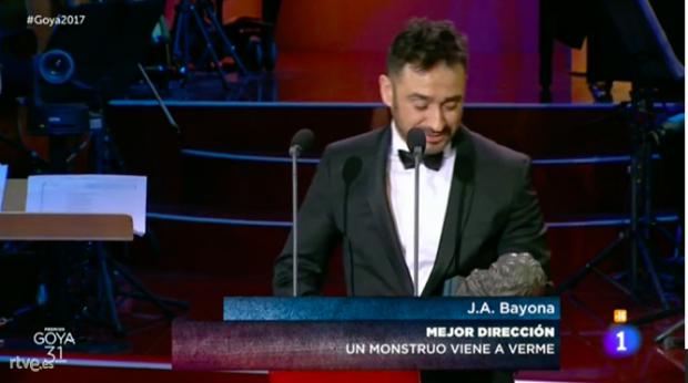 EN DIRECTO. 'Tarde para la ira' se convierte en la Mejor Película de 2016 en unos Goya protagonizados por 'Un Monstruo viene a verme'