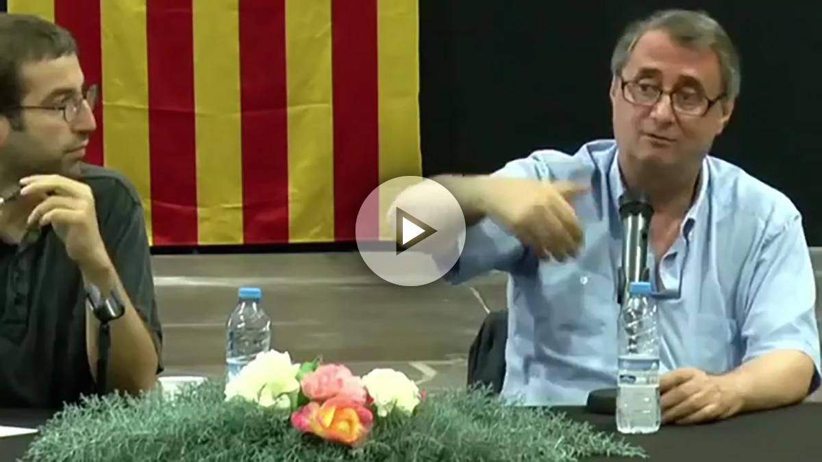 El independentista valenciano Vicent Partal, durante su conferencia.