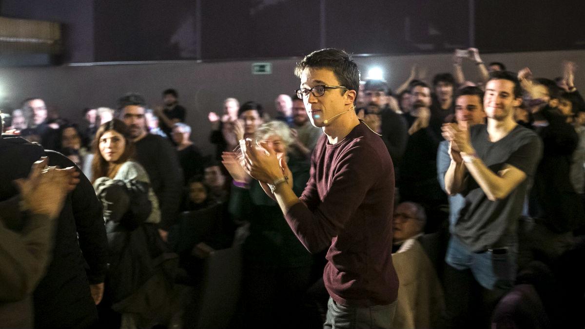 Íñigo Errejón en el acto de este sábado (Foto: Efe).